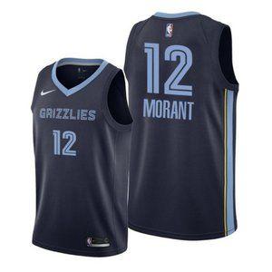 Memphis Grizzlies Ja Morant Navy Jersey